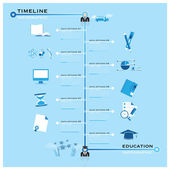 Timeline Education Infographic — Stock Vector