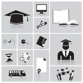 Education And Graduation Icon Set — Stock Vector