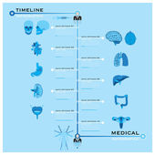 Timeline Health And Medical Infographic — Stock Vector