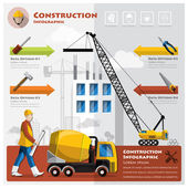 Construction And Building Business Infographic — Stock Vector