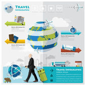 Travel And Journey Business Infographic — ストックベクタ