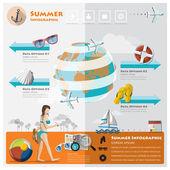 Lato i podróży wakacje infographic — Wektor stockowy