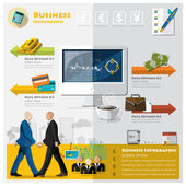Business And Financial Infographic — Stock Vector