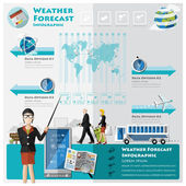 Weather Forecast Infographic — Stock Vector