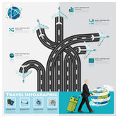 Travel And Journey Business Infographic — Stock Vector