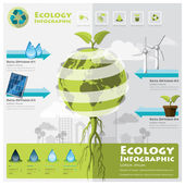 Ecology And Environment Infographic Element — Stock Vector