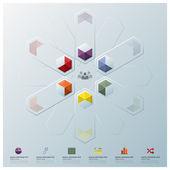 Modern Fusion Hexagon Geometric Shape Business Infographic — Stock Vector