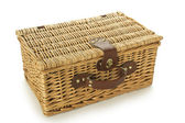 Closed basket made from rattan — Stock Photo