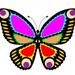 Easy editable vector butterfly — Stock Vector #36824977