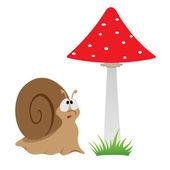 Illustration of a cartoon funny snail — 图库矢量图片