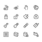 Security element vector icon set on white background — Stock Vector