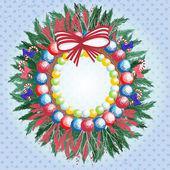 Christmas wreath — Vector de stock