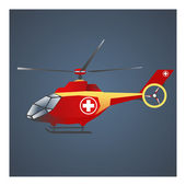 Medical helicopter — Wektor stockowy