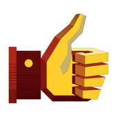 Thumb up icons, vector illustration — Stock Vector