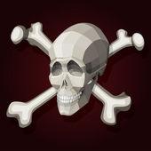 Skull and crossbones. — Stock Vector