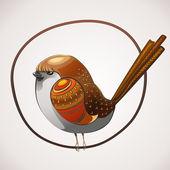 Cartoon colorful bird. — Stock Vector