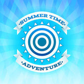 Summer time adventure  background poster — Stock Vector