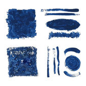 Blue grungy vector abstract hand-painted background — Vecteur