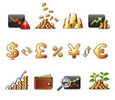 Finance, Money and Economy - Harmony Icon Set 05 — Stock Vector