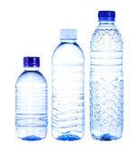 Water bottles isolated on white background — Stock Photo