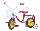 Colorful tricycles isolated on white background — Stock Photo