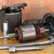 Stock Photo: Opened starter motor