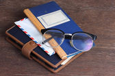 Glasses on old book , — Stockfoto