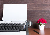 Type writer with paper, still life — Stock Photo