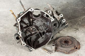 Gearbox Assembly and Vehicle Clutch — Stock Photo