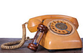 Altes telefon — Stockfoto