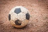 Gamla fotboll boll — Stockfoto