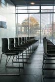 Row of chairs in the hall — Stock Photo