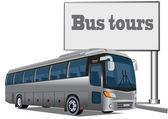 Tourist bus — Stock Vector