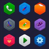 Set of flat minimalist icons — Stock Vector