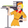 Waitress profession — Stockvector #37100857