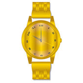 Gold watch — Stock Vector