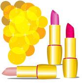 Three lipsticks — Stock Vector