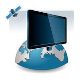 Televisão por satélite — Vetor de Stock