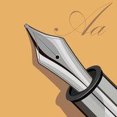 Penna scrivente — Vettoriale Stock