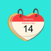 Calendar Valentines Day — Stock Vector