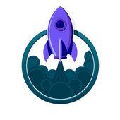 Cohete — Vector de stock