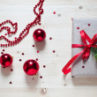 Red cristmas ball — Stock Photo #37961313