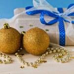 Gold cristmas balls — Stock Photo #37961459