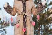 Röda hjärtformade leksak — Stockfoto