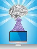 Brain learning — Stock Vector