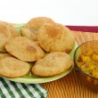 Authentic Indian Poori Bhaji dish — Stock Photo