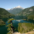Постер, плакат: Diablo lake and Davis Peak
