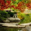Beautiful Japanese Garden in autumn — Stock Photo