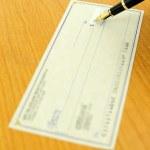 um cheque — Foto Stock