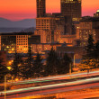 Seattle downtown at dusk — Stock Photo #37722161